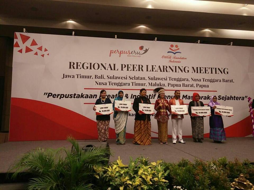 HADIRI REGIONAL PEER LEARNING MEETING (RPLM) PROGRAM PERPUSERU PERPUSDA GRESIK MENDAPAT 2 PENGHARGAAN SEKALIGUS